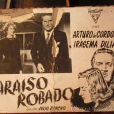 Cine: PARAISO ROBADO CON ARTURO DE CORDOBA E IRASEMA DILIAN. Lote 23441158