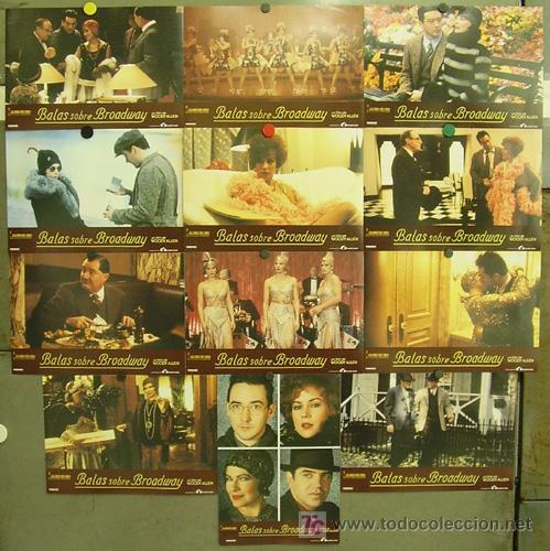 FT68 BALAS SOBRE BROADWAY WOODY ALLEN JOHN CUSACK SET COMPLETO 12 FOTOCROMOS ORIGINAL ESTRENO (Cine - Fotos, Fotocromos y Postales de Películas)