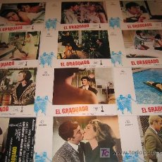 Cine: EL GRADUADO - DUSTIN HOFFMAN COLECCION 12 FOTOCROMOS ORIGINALES DE LA REPOSICION. Lote 10385542