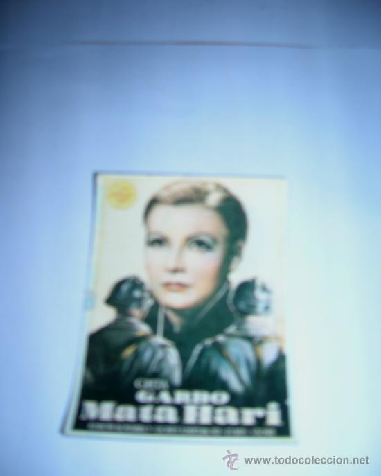 FOTO PELICULA MATA HARI, CON GRETA GARBO. IMANTADA, MIDE 5,3 X 7,5 CM.. (Cine - Fotos y Postales de Actores y Actrices)