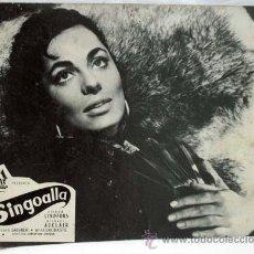 Cine: CARTELERA SINGOALLA 1954 VIVECA LINDFORS MICHAEL AUCLAIR DE CHRISTIAN JACQUE DE PAX FILMS. Lote 35991428