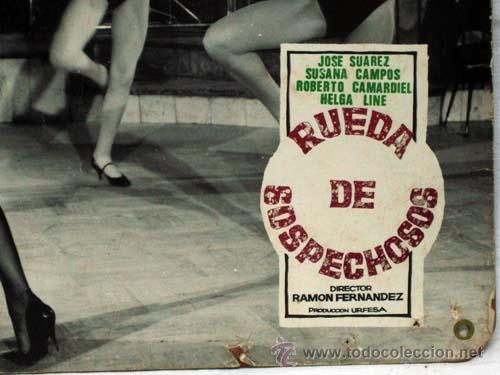 Cine: Cartelera Rueda de sospechosos 1964 José Suarez Susana Campos de Ramón Fernández de Urfesa - Foto 2 - 82439435