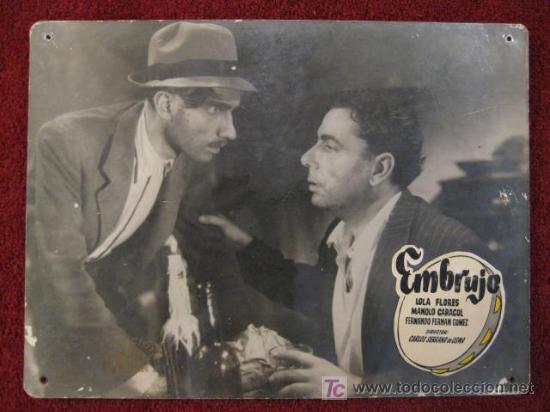 FOTOCROMO DE CARTON. EMBRUJO . LOLA FLORES Y MAN0LO CARACOL (Cine - Fotos, Fotocromos y Postales de Películas)