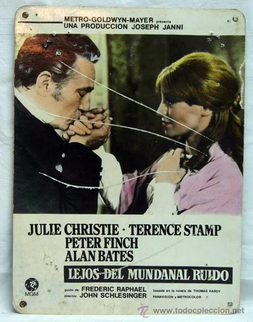 CARTELERA LEJOS DEL MUNDANAL RUIDO 1967 JULIE CHRISTIE TERENCE STAMP ALAN BATES, JOHN SCHLESINGER (Cine - Fotos, Fotocromos y Postales de Películas)