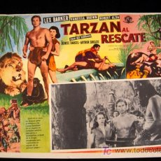 Cine: TARZAN Y LA ESCLAVA LEX BARKER VANESSA BROWN LOBBY CARD MEXICANO ORIGINAL 1950. Lote 12737280