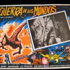 Cine: LA GUERRA DE LOS MUNDOS SCI-FI LOBBY CARD MEXICANO RE-RESTRENO. Lote 12737755