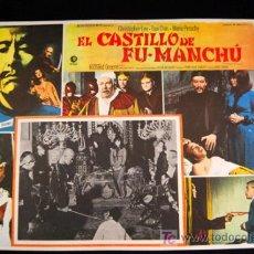 Cine: EL CASTILLO DE FU-MANCHÚ CHRISTOPHER LEE JESUS FRANCO LOBBY CARD MEXICANO ORIGINAL . Lote 12749796