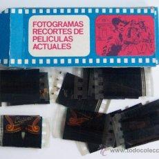 Cine: CAJA DE FOTOGRAMAS RECORTES DE PELICULAS ACTUALES.. Lote 195075338