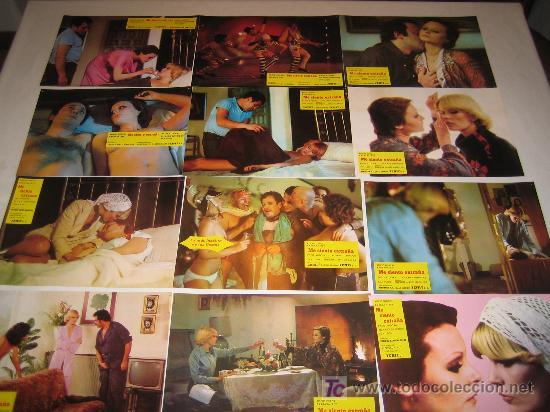 ME SIENTO EXTRAÑA - ROCIO DURCAL - BARBARA REY - COLECCION 12 FOTOCROMOS DEL ESTRENO - MUY RAROS (Cine - Fotos, Fotocromos y Postales de Películas)
