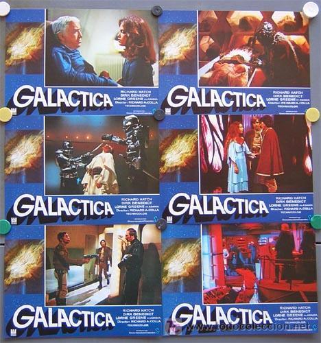 Cine: QP39d GALACTICA SERIE TV CIENCIA FICCION SET COMPLETO 12 FOTOCROMOS ORIGINAL ESTRENO - Foto 2 - 206876283