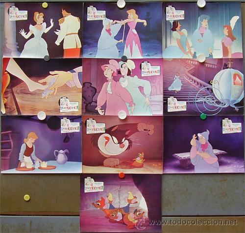 T01134 LA CENICIENTA WALT DISNEY SET COMPLETO DE 10 FOTOCROMOS ORIGINAL SCDO (Cine - Fotos, Fotocromos y Postales de Películas)