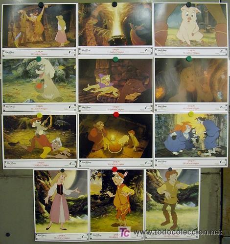 T03445 TARON Y EL CALDERO MAGICO WALT DISNEY SET COMPLETO 12 FOTOCROMOS ORIGINAL ESTRENO (Cine - Fotos, Fotocromos y Postales de Películas)