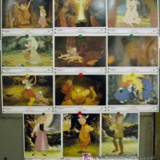 Cine: T03445 TARON Y EL CALDERO MAGICO WALT DISNEY SET COMPLETO 12 FOTOCROMOS ORIGINAL ESTRENO. Lote 185754272