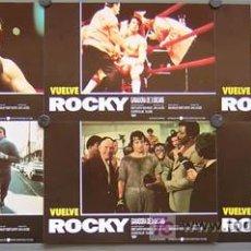 Cine: XN35D ROCKY SYLVESTER STALLONE BOXEO SET COMPLETO 12 FOTOCROMOS ORIGINAL. Lote 187092168