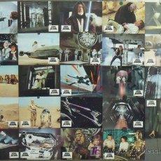 Cine: SCJ IN00D LA GUERRA DE LAS GALAXIAS STAR WARS GEORGE LUCAS SET 24 FOTOCROMOS ORIGINAL ALEMAN. Lote 18546896