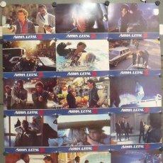 Cine: IN25 ARMA LETAL 2 MEL GIBSON SET COMPLETO 16 FOTOCROMOS ORIGINAL ESTRENO. Lote 13735111