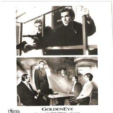 Cine: F10135D GOLDENEYE JAMES BOND 007 PIERCE BROSNAN SEAN BEAN FOTO ORIGINAL B/N AMERICANA. Lote 13826714