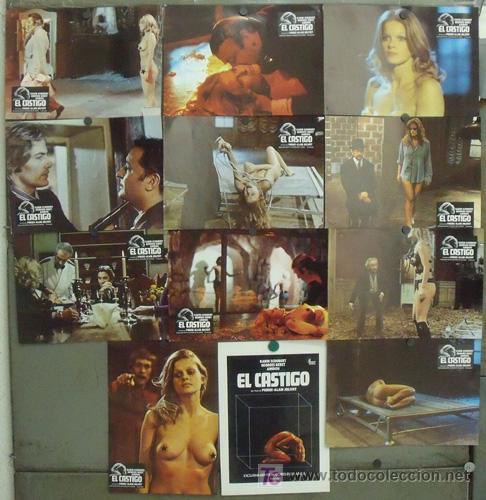 IS88 EL CASTIGO KARIN SCHUBERT DESNUDA SET COMPLETO 12 FOTOCROMOS ORIGINAL ESTRENO (Cine - Fotos, Fotocromos y Postales de Películas)