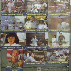 IT96 GOOD MORNING VIETNAM ROBIN WILLIAMS SET COMPLETO 12 FOTOCROMOS ORIGINAL ESTRENO