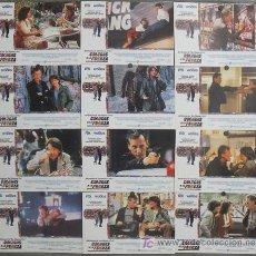 Cine: JF08 COLEGAS A LA FUERZA MICHAEL J. FOX JAMES WOODS SET COMPLETO 12 FOTOCROMOS ORIGINAL ESTRENO. Lote 14228240