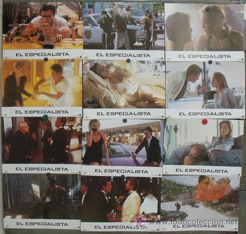 JF94 EL ESPECIALISTA SHARON STONE SYLVESTER STALLONE SET COMPLETO 12 FOTOCROMOS ORIGINAL ESTRENO (Cine - Fotos, Fotocromos y Postales de Películas)
