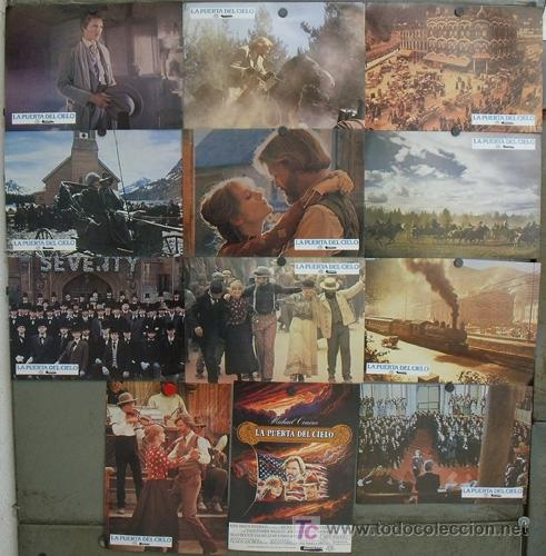 JG92 LA PUERTA DEL CIELO MICHAEL CIMINO WALKEN KRISTOFFERSON SET 12 FOTOCROMOS ORIGINAL ESTRENO (Cine - Fotos, Fotocromos y Postales de Películas)