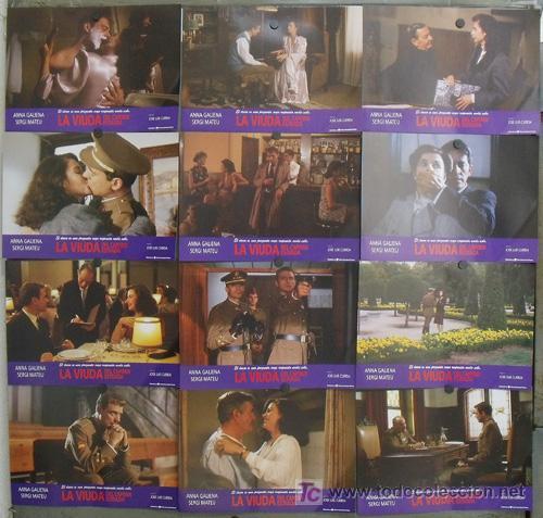 JI45 LA VIUDA DEL CAPITAN ESTRADA ANNA GALIENA MATEU SET COMPLETO 12 FOTOCROMOS ORIGINAL ESTRENO (Cine - Fotos, Fotocromos y Postales de Películas)