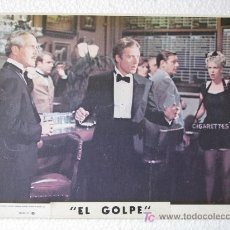 Cine: FOTOGRAFIA ? CINE TARJETA ORIGINAL LOBBY FILM ' EL GOLPE ' PAUL NEWMAN ROBERT REDFORD 25.5 X 20.5. Lote 27580591