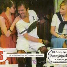 Cine: EMMANUELLE-2 LA ANTIVIRGEN, SYLVIA KRISTEL, FOTOCROMO ORIGINAL DEL ESTRENO DE LA PELICULA. Lote 14586271