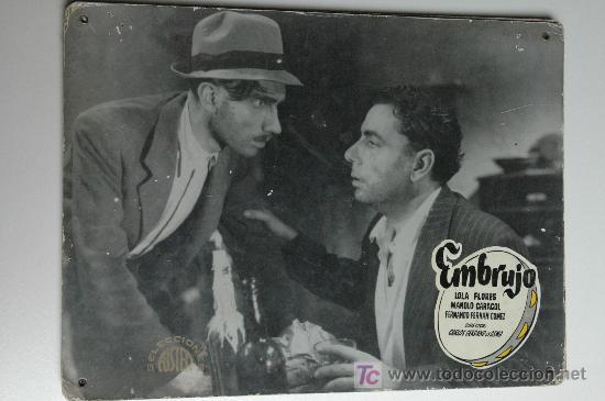 EMBRUJO - LOLA FLORES - MANOLO CARACOL - 1 FOTOCROMO ACARTONADO (Cine - Fotos, Fotocromos y Postales de Películas)