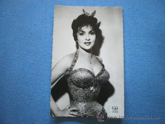 POSTAL GINA LOLLOBRIGIDA AÑOS 60 SIN CIRCULAR (Cine - Fotos y Postales de Actores y Actrices)