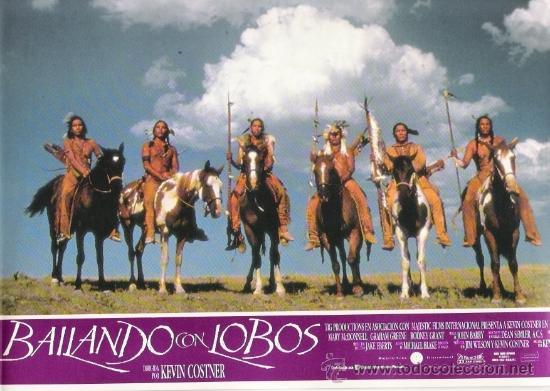 BAILANDO CON LOBOS, FOTOCROMO ORIGINAL DEL ESTRENO DE LA PELICULA, KEVIN COSTNER (Cine - Fotos, Fotocromos y Postales de Películas)