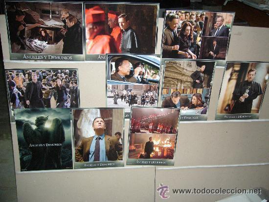 ANGELES Y DEMONIOS TOM HANKS JUEGO COMPLETO MEDIDAS 36X28 (Cine - Fotos, Fotocromos y Postales de Películas)