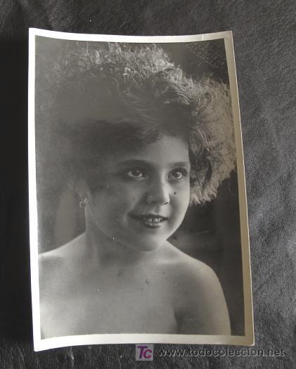 ANTIGUA FOTOGRAFIA DE NIÑA, POSIBLEMENTE UNA ACTRIZ (Cine - Fotos y Postales de Actores y Actrices)