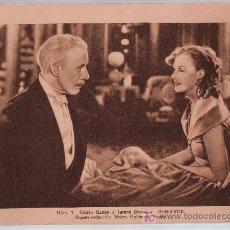 Cine: ESTAMPAS DEL CINEMA Nº 7. ROMANCE DE MGM.CON GRETA GARBO.(14,5X20). Lote 17416918
