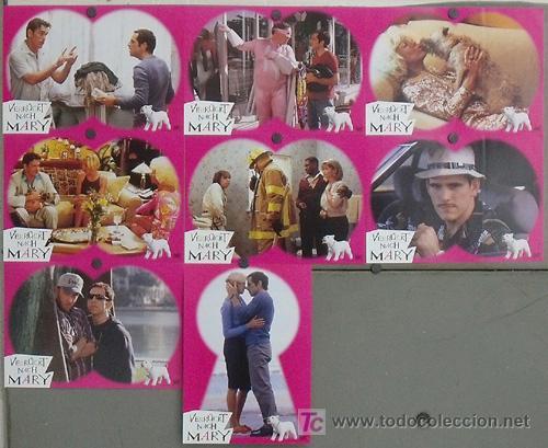 LH25 ALGO PASA CON MARY CAMERON DIAZ SET 8 FOTOCROMOS ORIGINAL ALEMAN (Cine - Fotos, Fotocromos y Postales de Películas)