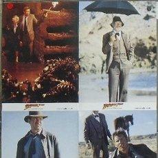 Cine: QE16 INDIANA JONES Y LA ULTIMA CRUZADA HARRISON FORD SPIELBERG SET 4 FOTOCROMOS ORIGINAL ALEMAN. Lote 128515466