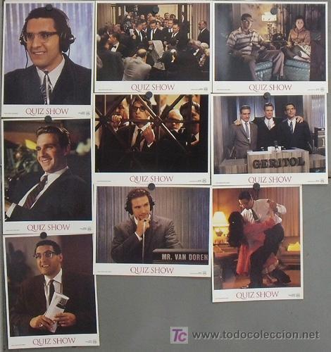 LK47 QUIZ SHOW EL DILEMA ROBERT REDFORD RALPH FIENNES TURTURRO SET 9 FOTOCROMOS ORIGINAL FRANCES (Cine - Fotos, Fotocromos y Postales de Películas)