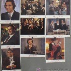 Cine: LK47 QUIZ SHOW EL DILEMA ROBERT REDFORD RALPH FIENNES TURTURRO SET 9 FOTOCROMOS ORIGINAL FRANCES. Lote 17521384