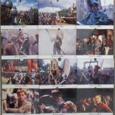 Cine: LK63 JUANA DE ARCO LUC BESSON MILLA JOVOVICH SET 12 FOTOCROMOS ORIGINAL FRANCES. Lote 17521941