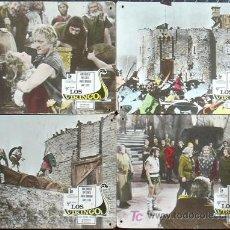 Cine: MD73 LOS VIKINGOS TONY CURTIS KIRK DOUGLAS JANET LEIGH SET 8 FOTOCROMOS CARTON ORIGINAL ESPAÑOL. Lote 18727176