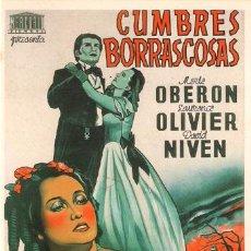 Cinéma: SPA198 COL. SPANISH POSTERS CUMBRES BORRASCOSAS OBERON 10X15 CM. POSTAL A ELEGIR 13X10€ - 50X30€. Lote 18979696