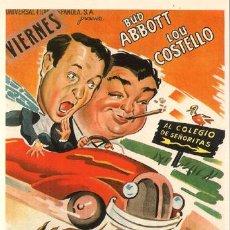 Cinéma: SPA201 COL. SPANISH POSTERS DOS CABEZUDOS ABBOTT COSTELLO 10X15 CM. POSTAL A ELEGIR 13X10€ - 50X30€. Lote 18979768