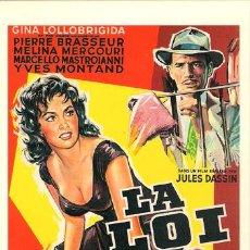 Cinema: CIN053 COL. CLASICOS CINEMA LA LEY GINA LOLLOBRIGIDA 10X15 CM. POSTAL A ELEGIR 13X10€ - 50X30€. Lote 36722862