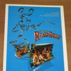 Cinéma: QUIEN ENGAÑO A ROGER RABBIT - POSTAL DE PELICULA.. Lote 19580384