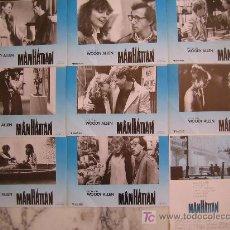 Cine: MANHATTAN - WOODY ALLEN - COLECCION 9 FOTOCROMOS DE LA REPOSICION. Lote 19708154
