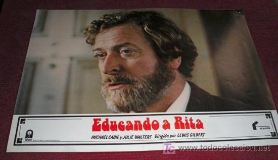 EDUCANDO A RITA - MICHAEL CAINE - AFICHE ORIGINAL CINE (Cine - Fotos, Fotocromos y Postales de Películas)