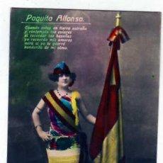 Cine: CUPLETISTA.PAQUITA ALFONSO. REYES GRANADA. ARTISTA. CUMPLETISTA. BANDERA DE ESPAÑA.. Lote 25175432