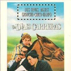 Cine: MER633 COL. MERCURI UN DIA EN LAS CARRERAS HERMANOS MARX 10X15 CM POSTAL A ELEGIR 13X10€ - 50X30€. Lote 101047140