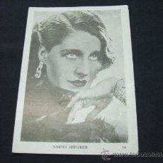 Cine: LAMINA COLECCION ARTISTAS DE CINE - Nº 50 - NORMA SHEARER - . Lote 22642272